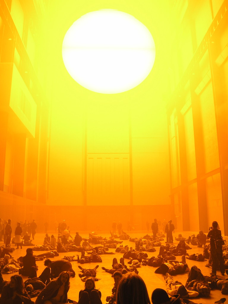 olafur eliasson the weather project Olafur eliasson: danish artist whose sculptures and large-scale installation art employed elemental materials such as light, water, and air temperature to enhance the.