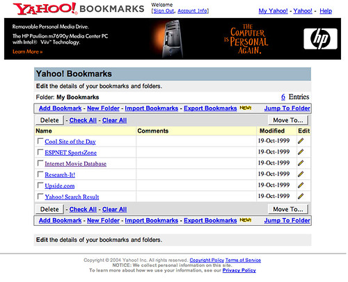 Yahoo Bookmarks Screenshot.png | by michaelarrington