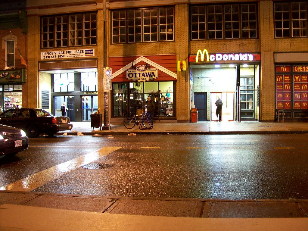 the rear entrance of the rideau street mcdonald s on geor flickr