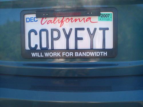 copyfyt my california plates jpg cory doctorow flickr. Black Bedroom Furniture Sets. Home Design Ideas