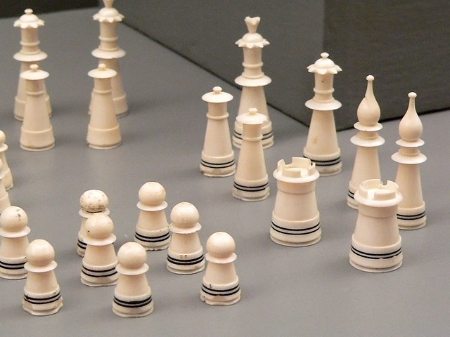 ivory muslim chess set turkey 19th century photographed