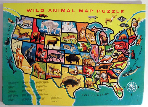 Built-Rite Wild Animal Map Puzzle | by Marxchivist