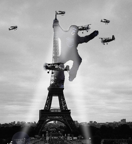 King Kong Visits the Eiffel Tower | This is a photo