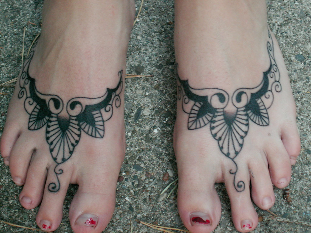 tattooed feet my niece 39 s feet tattoo done at ink for life flickr. Black Bedroom Furniture Sets. Home Design Ideas