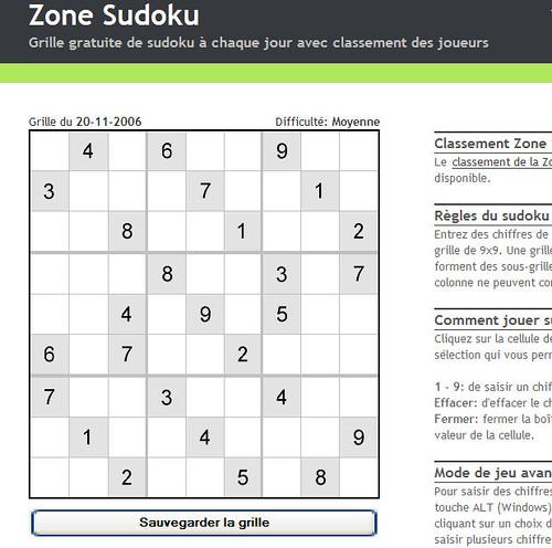 Zone sudoku grille gratuite chaque jour un jeu de sudok flickr - Grilles sudoku gratuites ...