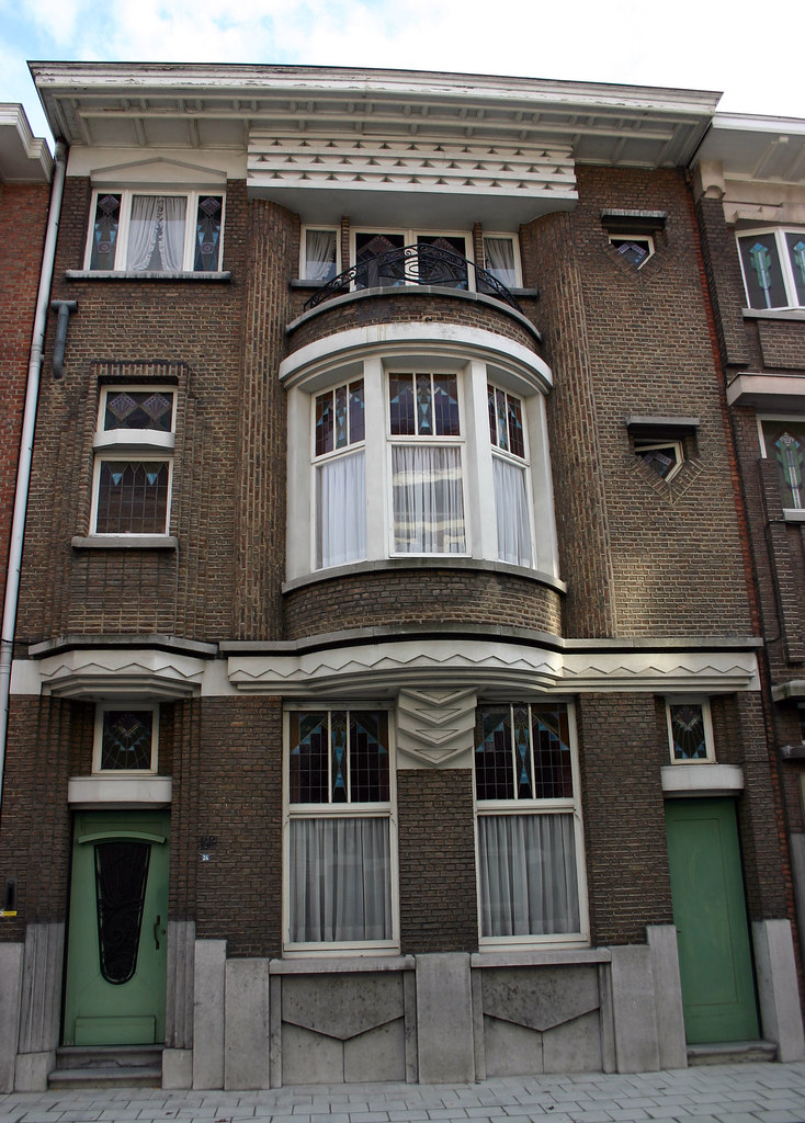Art deco woning sint niklaas de monseigneur stillemansstr flickr - Deco huizen ...