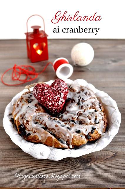 Ghirlanda ai cranberry senza glutine