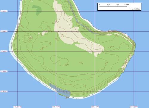 Makatea Island Map