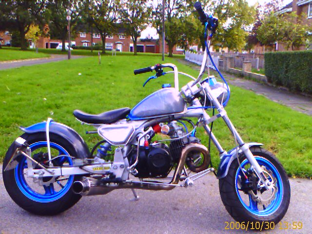Honda Z50 Monkey Bike Custom Chopper My Awesome Honda