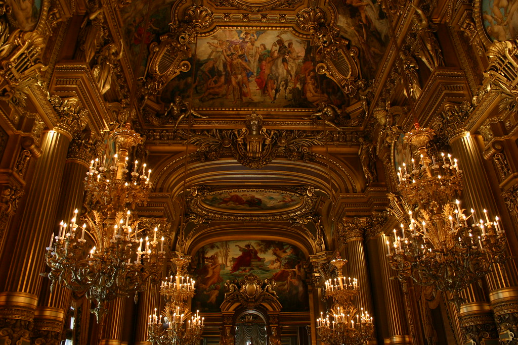 Chandeliers in the grand foyer in lopera garnier comissio flickr chandeliers in the grand foyer in lopera garnier by iceninejon aloadofball Images