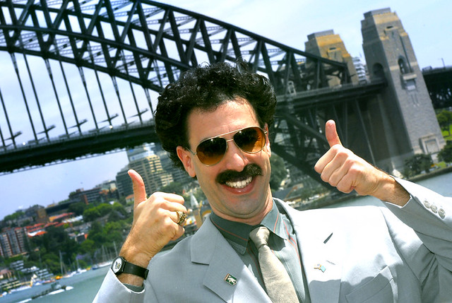Borat Thumbs up Very Nice Borat Gives The Thumbs up