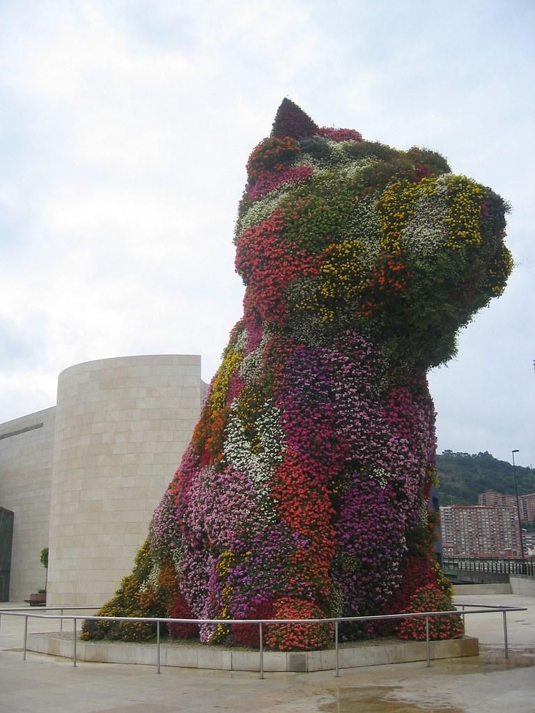"Guggenheim Museum Bilbao ""Puppy"" Flower Dog | gundust ..."