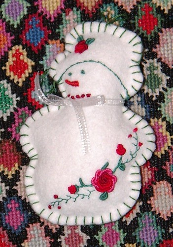 felt snow man done, style:christmas colors | by sunshine's creations