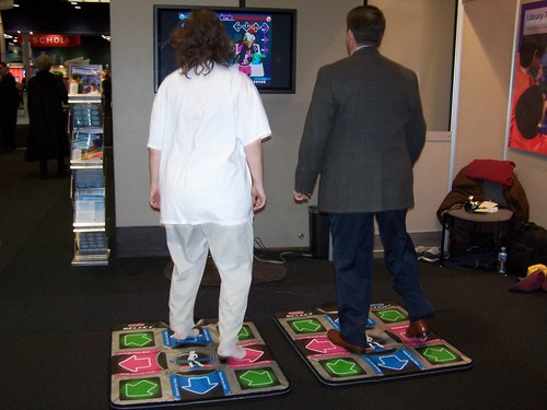 Jenny and vendor(!) playing DDR! | by ALA TechSource