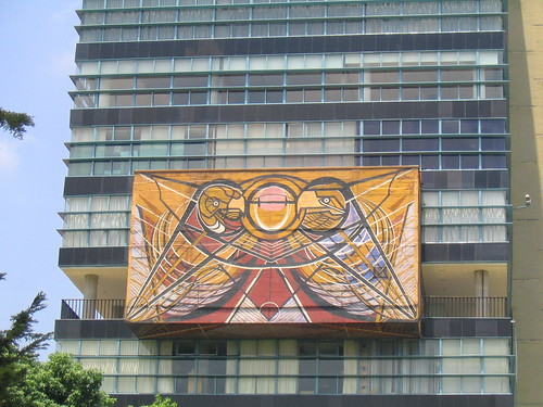 mural overlooking the jardin central | by kate at yr own risk