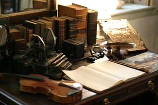 Antique desk and typewriter | by bcostin