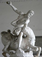 Hercules Battling the Centaur Nessus by Giovanni Bologna 1599 | by mharrsch