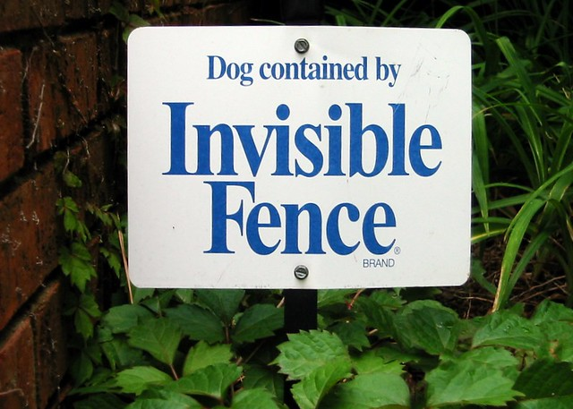 Invisible Fence | Invisible Fence sign in my subdivision ...
