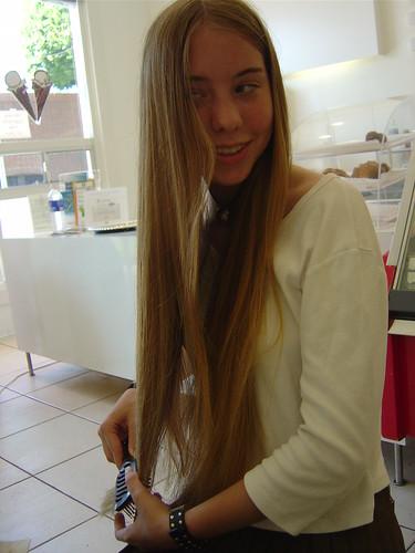 Really Long Hair Kelleigh Brushing Her Hair Inside Of An