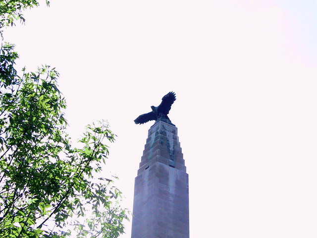 Eagle Statue An Eagle On Top Of An Obelisk In Downtown