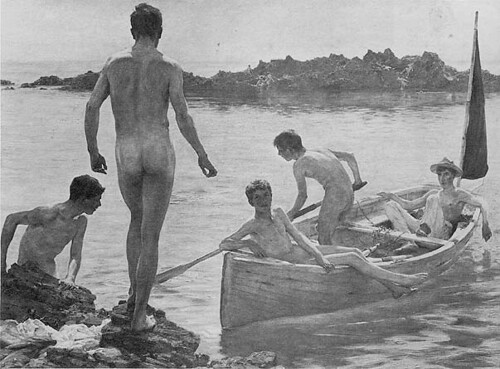 Vintage nude boys swim xxx high school