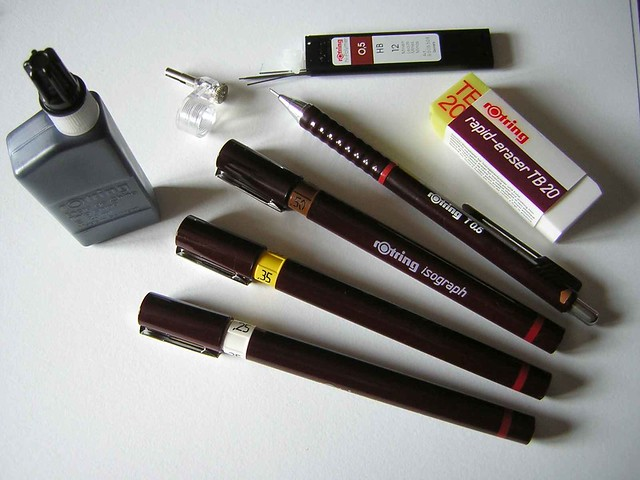 Rotring isograph college set - laid out | Flickr - Photo ...