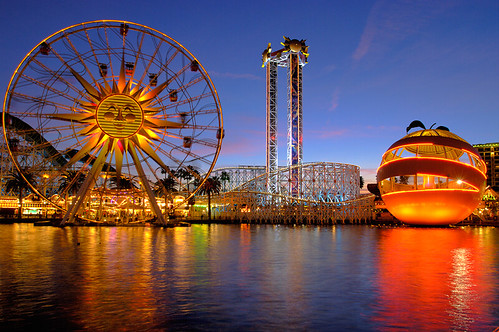 Paradise Pier at Dusk | by disneymike
