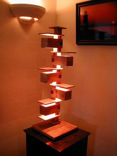 frank lloyd wright style lamp this is my adaptation of a f flickr. Black Bedroom Furniture Sets. Home Design Ideas