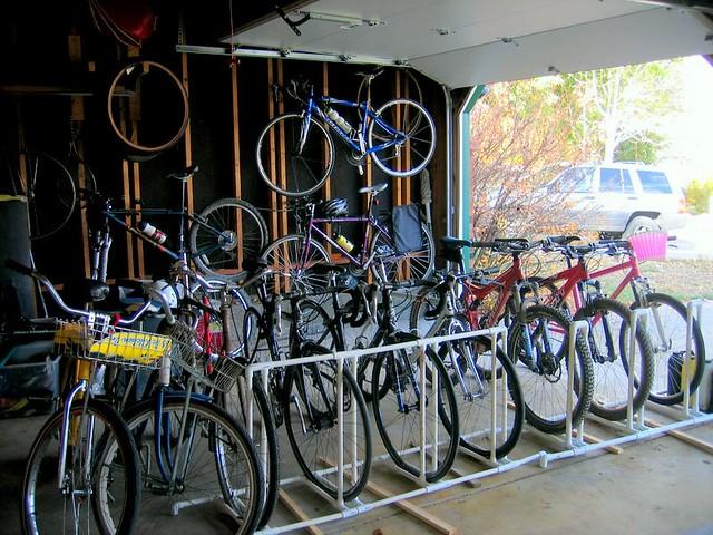 Pvc Bike Rack Me Roommates Many Bikes Which