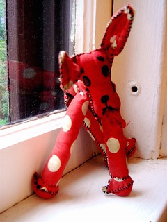 Hand-sewn, polka-dotted dog | by Ann Althouse