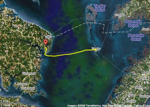 Tangier Island Virginia Map.Map Showing Tangier Island Va The Yellow Line Is The Gps Flickr