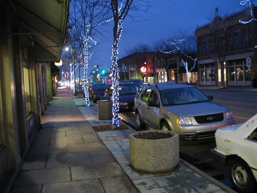 Downtown Maumee, Ohio with Christmas lights   John Hartsock   Flickr