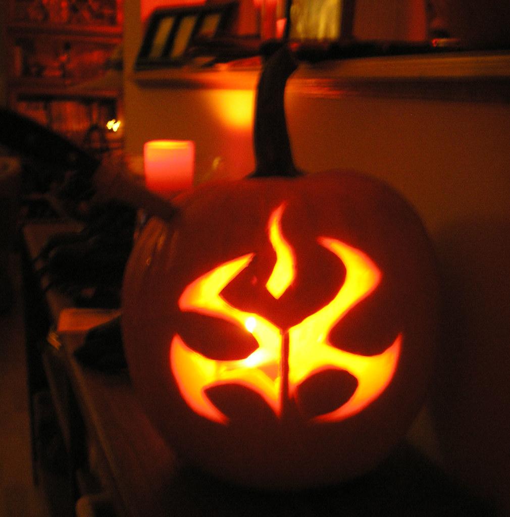 lit pumpkin the hitman symbol vicious bits flickr
