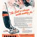 Vintage WWII Premier Vacuum Cleaner Ad - 1945