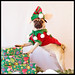 Wookie - Christmas Pug Portrait