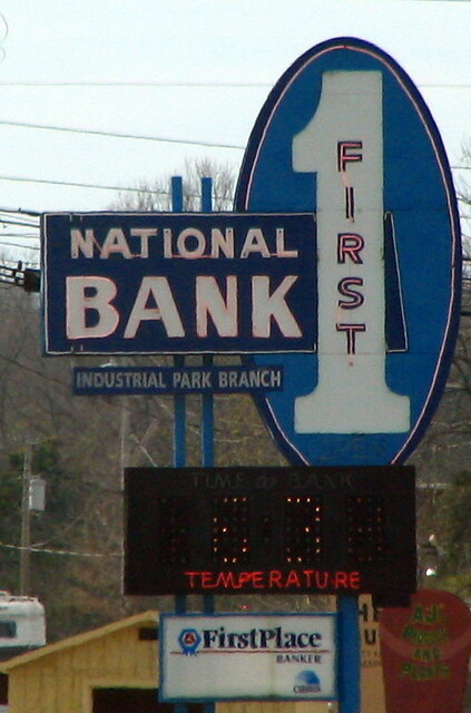 Pulaski (TN) United States  City new picture : First National Bank sign Pulaski, TN | Brent Moore | Flickr