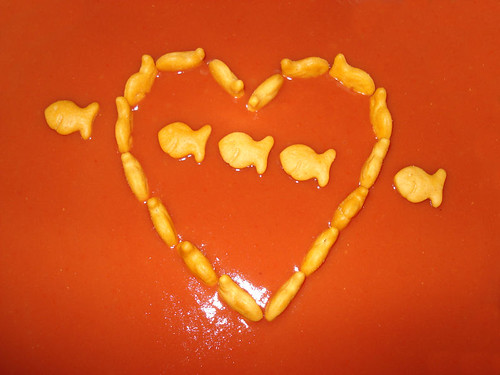 Goldfish swimming in Tomato Soup | by Bob.Fornal