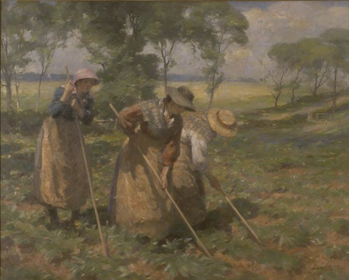 Oil Painting Hoeing The Fields Pitting Potatoes By Wil