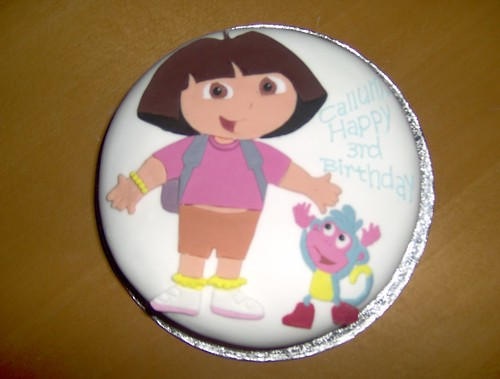 Dora Cake Recipe In English: Callum's Dora Cake