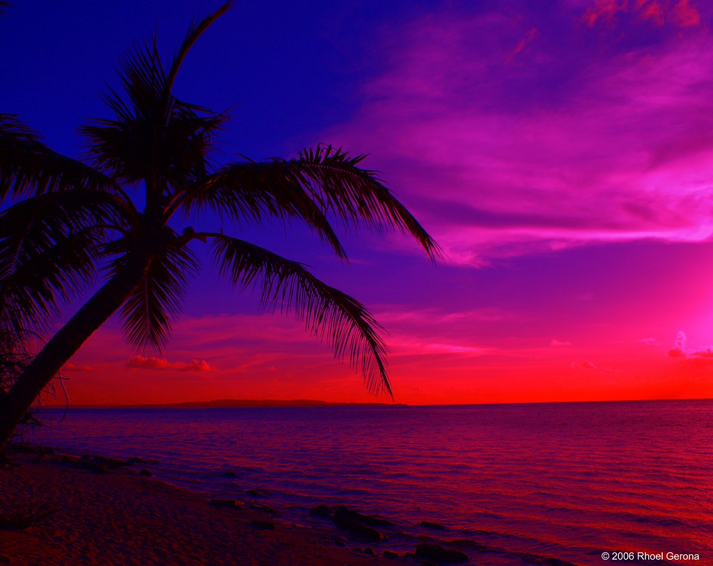Tropical Island Beach Sunset