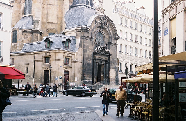 rue saint antoine paris the church is sainte marie 39 s flickr. Black Bedroom Furniture Sets. Home Design Ideas