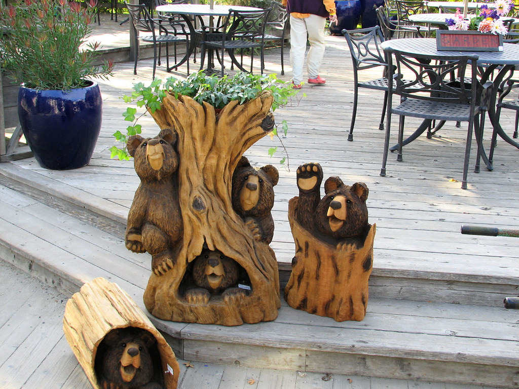 Carved bears these wood carvings are for sale in the