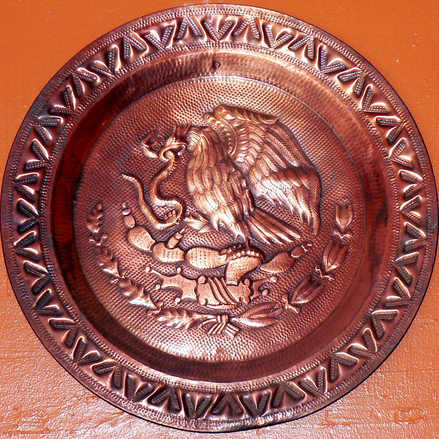 Decorative copper plate | by cbcastro Decorative copper plate | by cbcastro  sc 1 st  Flickr & Decorative copper plate | After the emblem of the Mexican fl\u2026 | Flickr