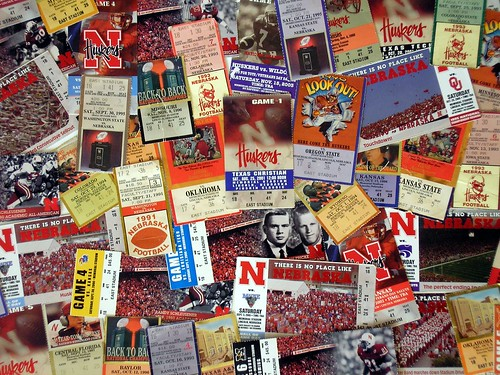 Husker ticket stubs | by beatboxbadhabit