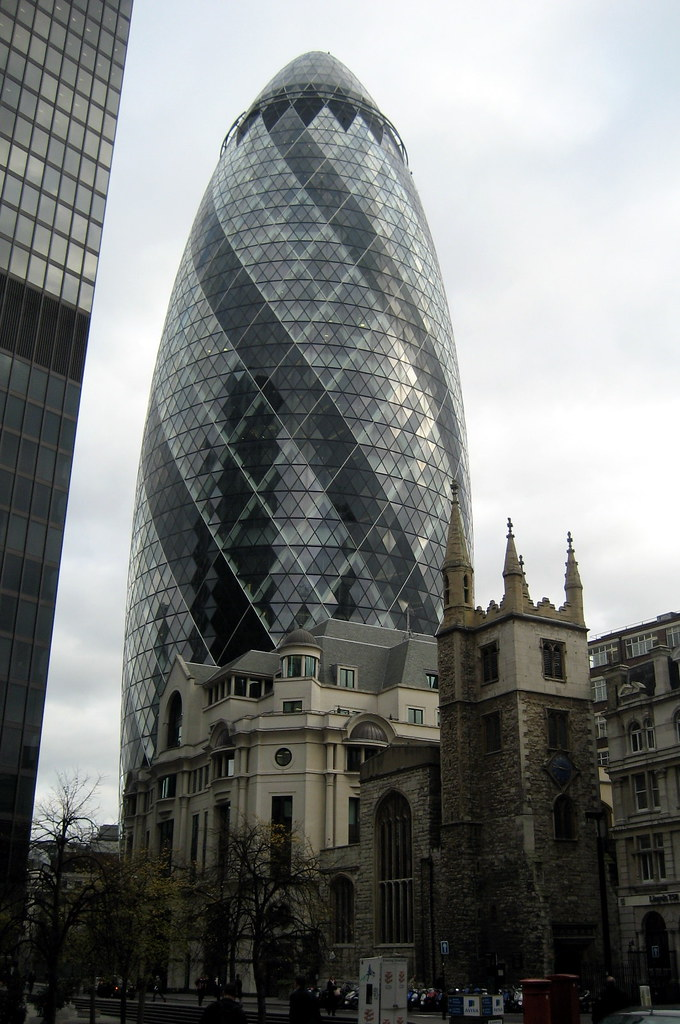 Uk London The City 30 St Mary Axe And St Andrew Und