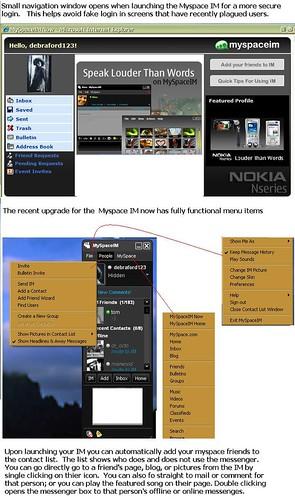 myspace im features  safer login logging     flickr