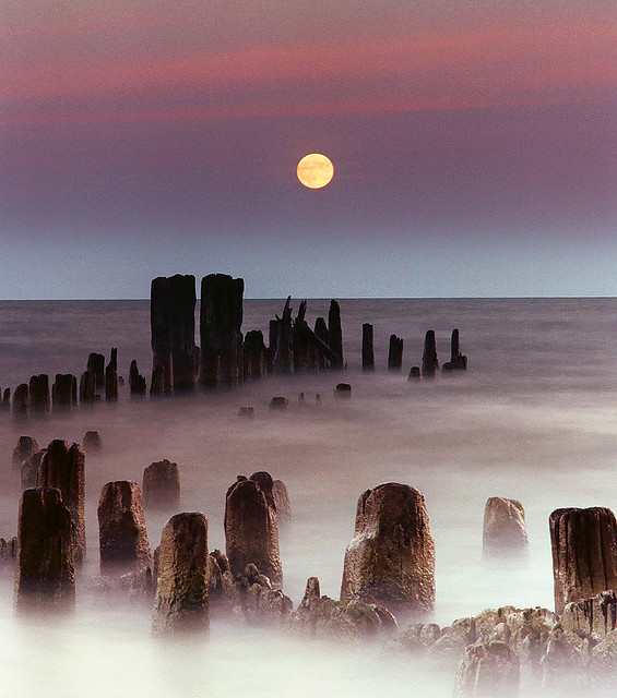 Mooning Over New Missoni: The Full Moon Rises Over Lake Michigan As