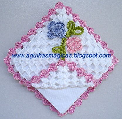 Porta-guardanapo crochet   FREE PATERN/ blogger is: www.agul ...