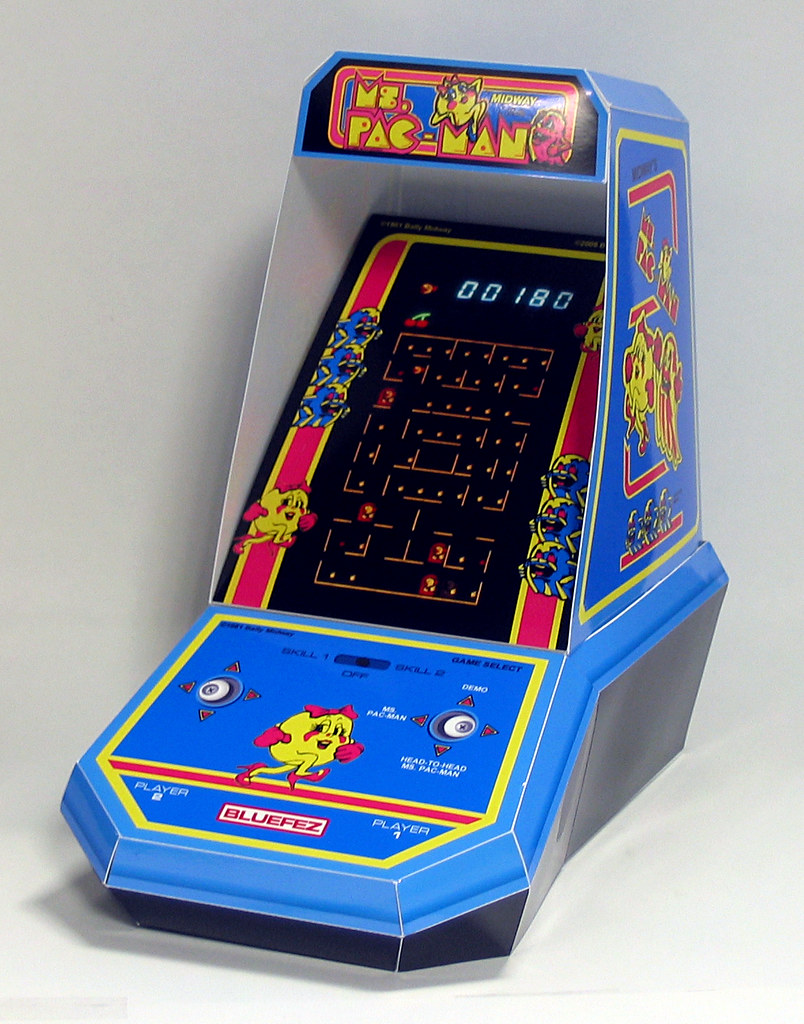 Coleco Ms. Pac-Man hand held game paper model - After 2 week