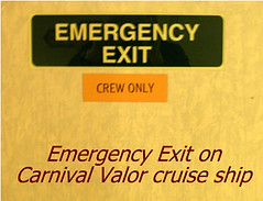 Emergency Exit door on Carnival Valor Cruise ship | by Pboy
